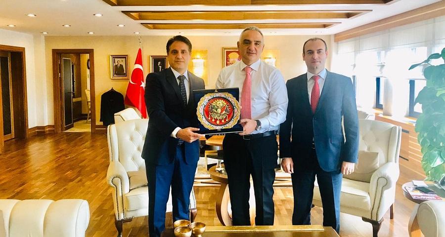 Bilişim Grubu Başkanı Vatansever, Kültür ve Turizm Bakanı Ersoy Bir Araya Geldi